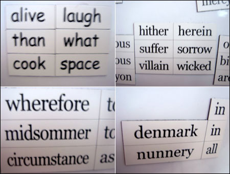 Quelques exemples de mots
