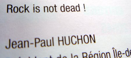 'Rock is not dead !', dixit Jean-Paul H.