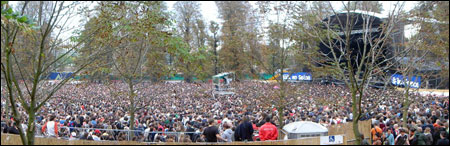 Panorama avec plein de gens