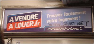Détournement de slogan. Métro parisien, mars 2007.